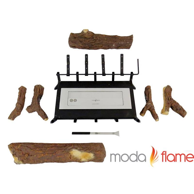 Moda Flame 24 Inch Convert To Ethanol Gas Log Fireplace Burner Insert