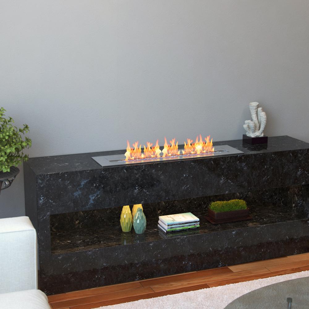 regal flame pro 24 inch bio ethanol fireplace burner insert 4 8 liter