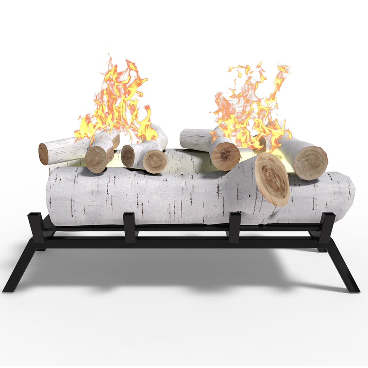 18 In Birch Convert Gas Gel Or Electric To Ethanol Fireplace Log Set