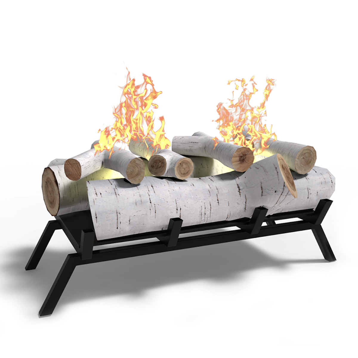 Gel or Electric to Ethanol Fireplace Log Set