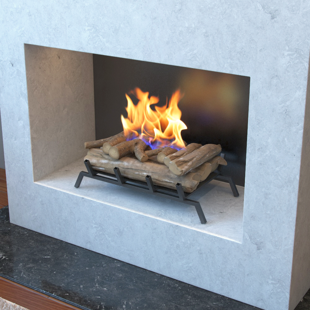 24 Inch Convert To Ethanol Fireplace Log Set With Burner