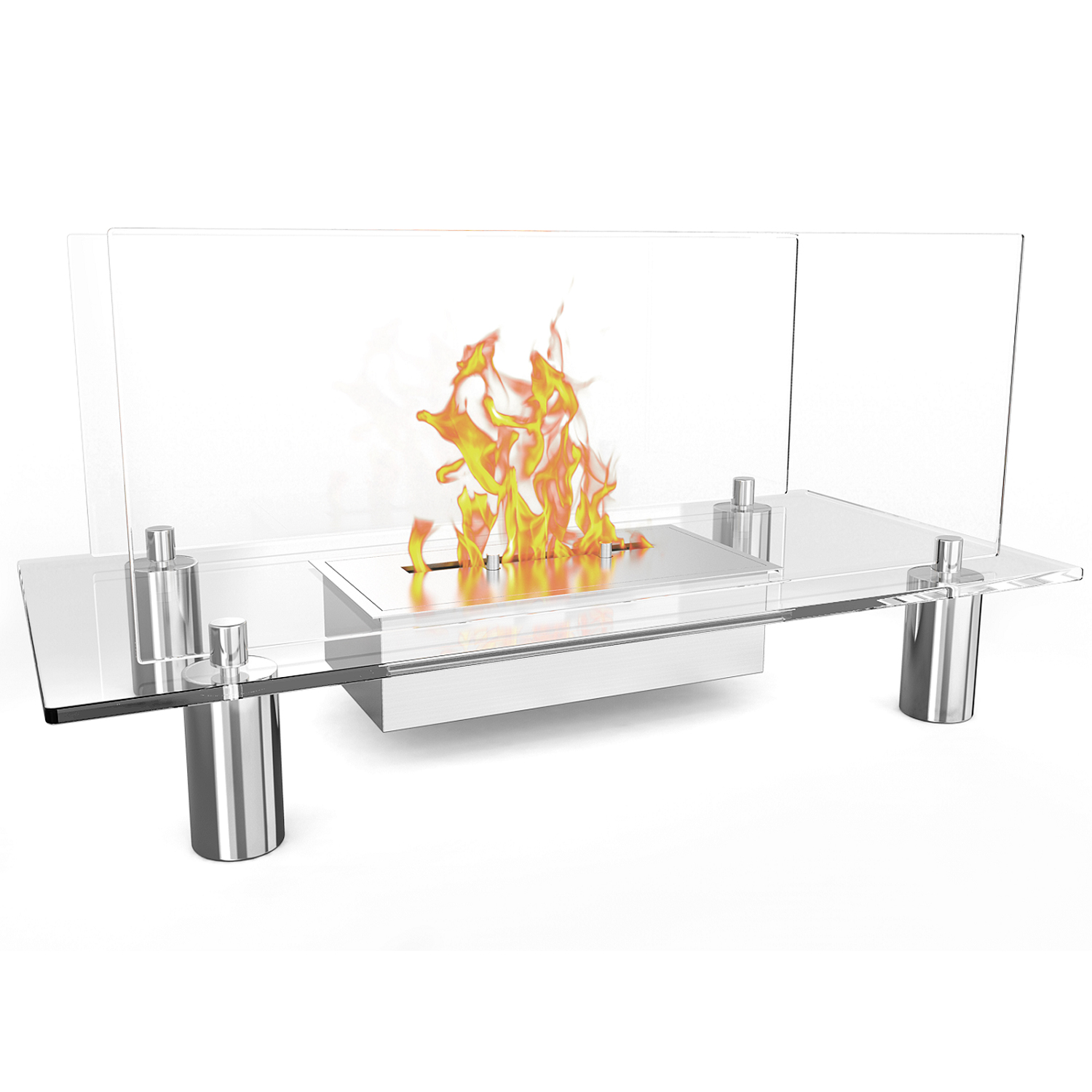 flame delano ventless free standing ethanol fireplace