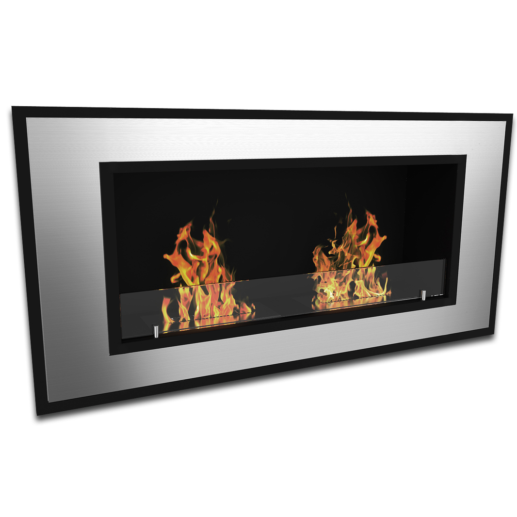 brooks 47 inch ventless built in recessed bio ethanol wall mounted