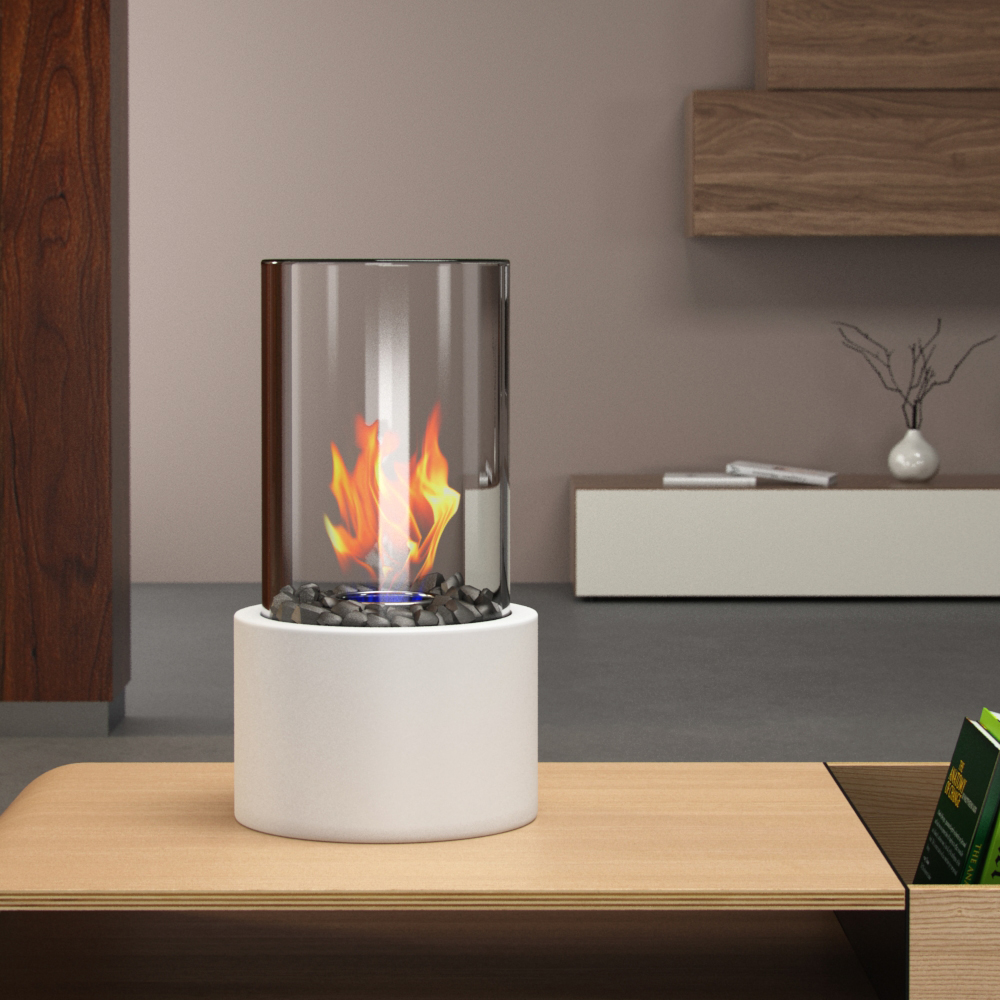 regal flame eden ventless tabletop portable bio ethanol fireplace in white. Black Bedroom Furniture Sets. Home Design Ideas