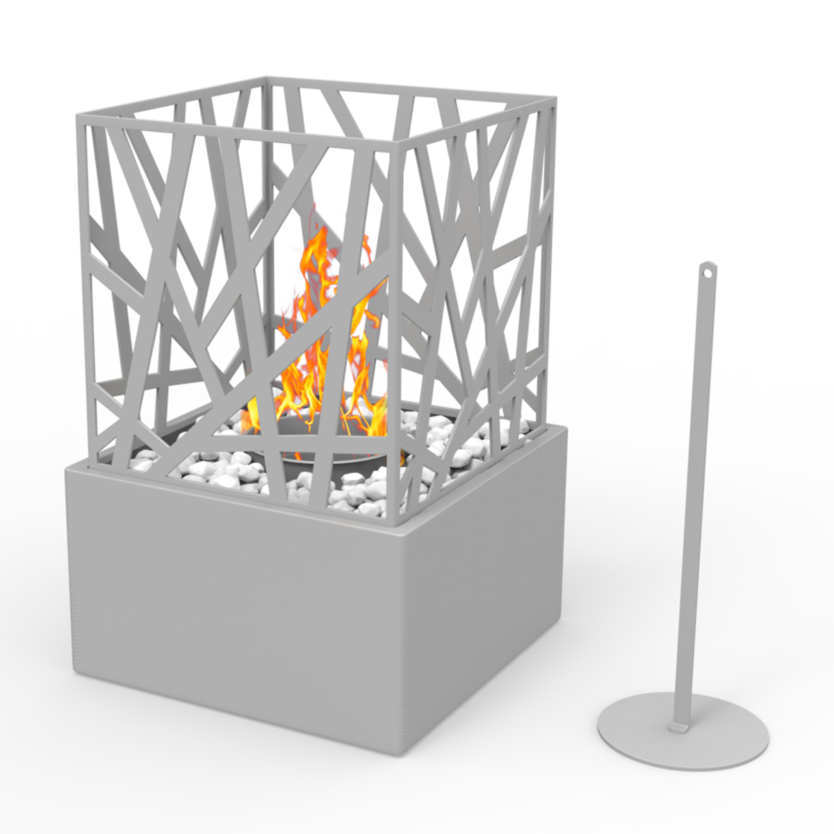 Regal Flame Bruno Ventless Tabletop Portable Bio Ethanol Fireplace In Gray