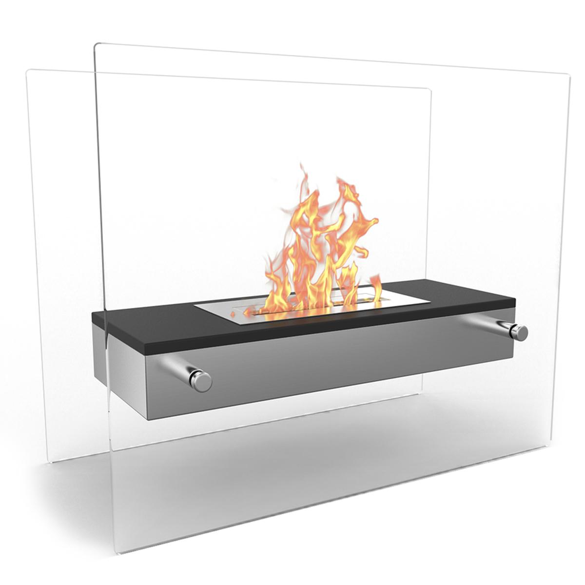 Regal Flame Vista H Tabletop Firepit Bio Ethanol Ventless Fireplace Black