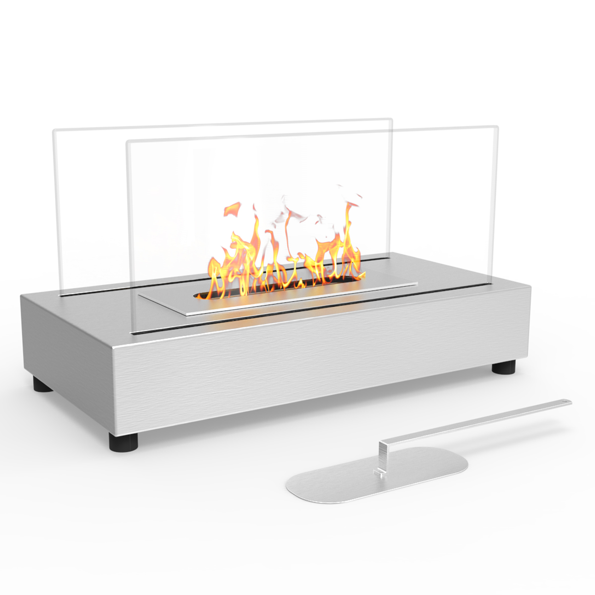 Regal flame avon table top indoor outdoor ethanol fireplace white regal flame avon table top indoor outdoor ethanol fireplace stainless steel geotapseo Image collections