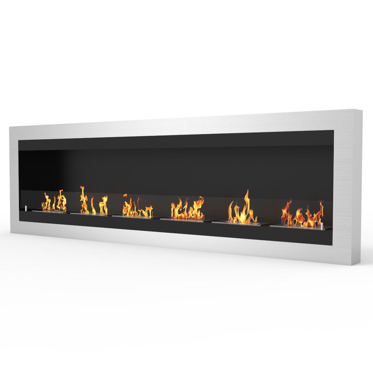 regal flame fresno 83 inch ventless wall mounted bio ethanol fireplace