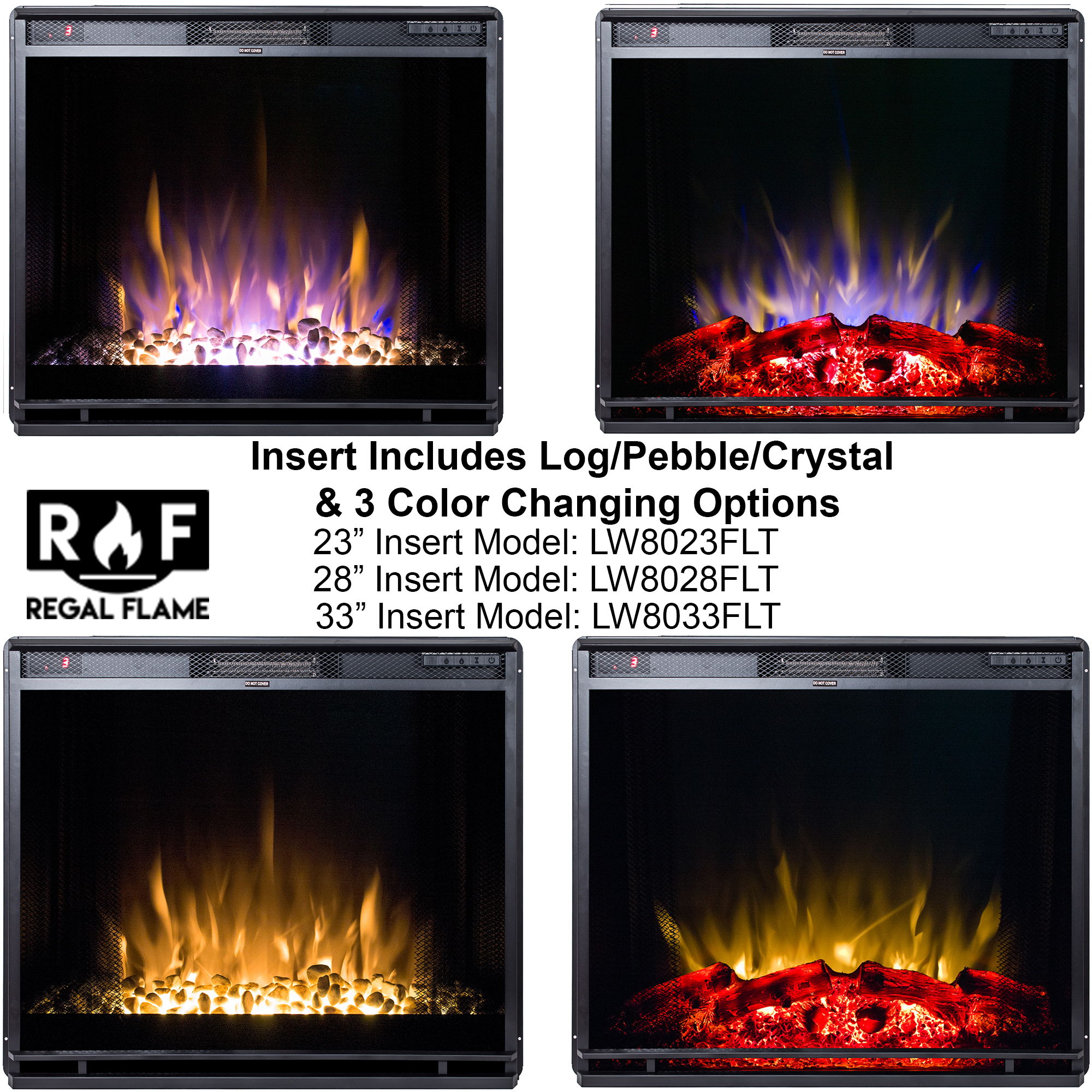 Regal Flame 33 Inch Flat Ventless Heater Electric