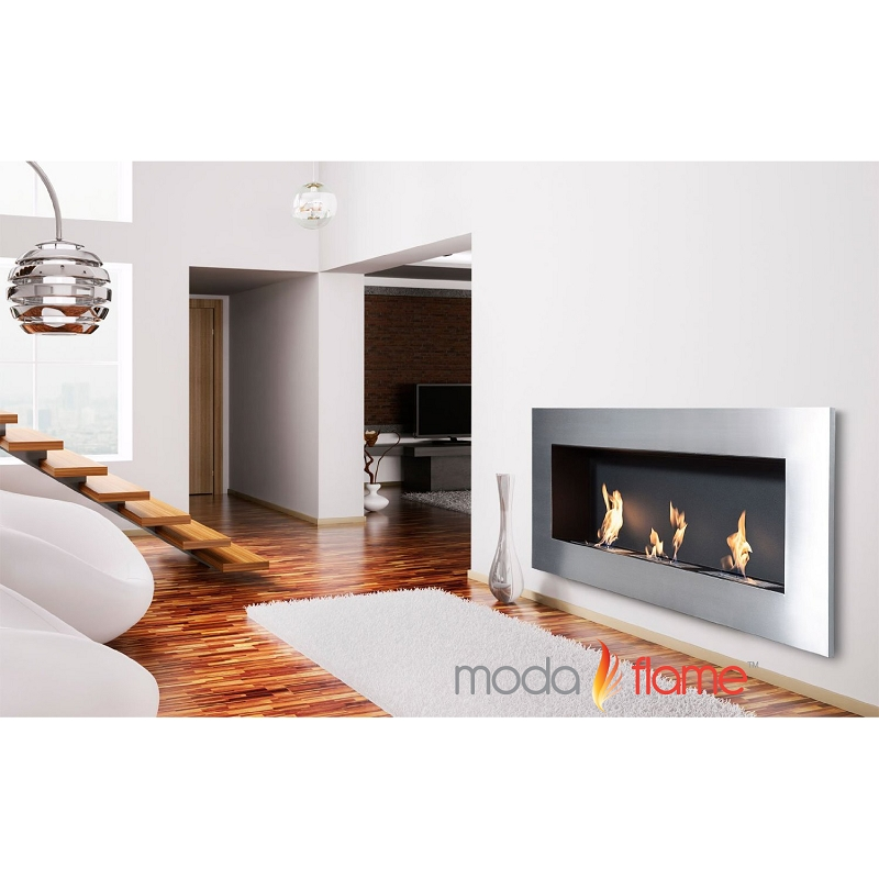 Moda Flame Hudson Recessed Wall Mounted Ethanol Fireplace