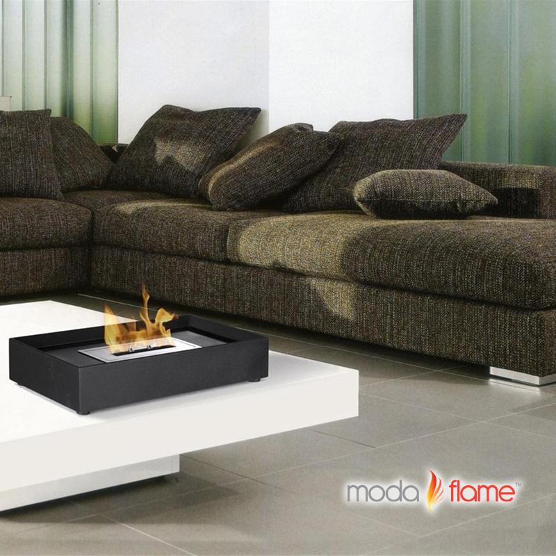 Moda Flame Rubi Table Top Indoor Outdoor Ethanol Fireplace Table Top Bio Ethanol Fireplace