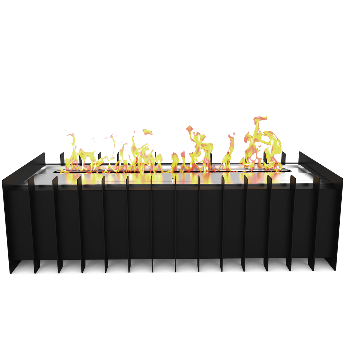 pro 18 in ventless bio ethanol fireplace grate burner insert 2 6 liter