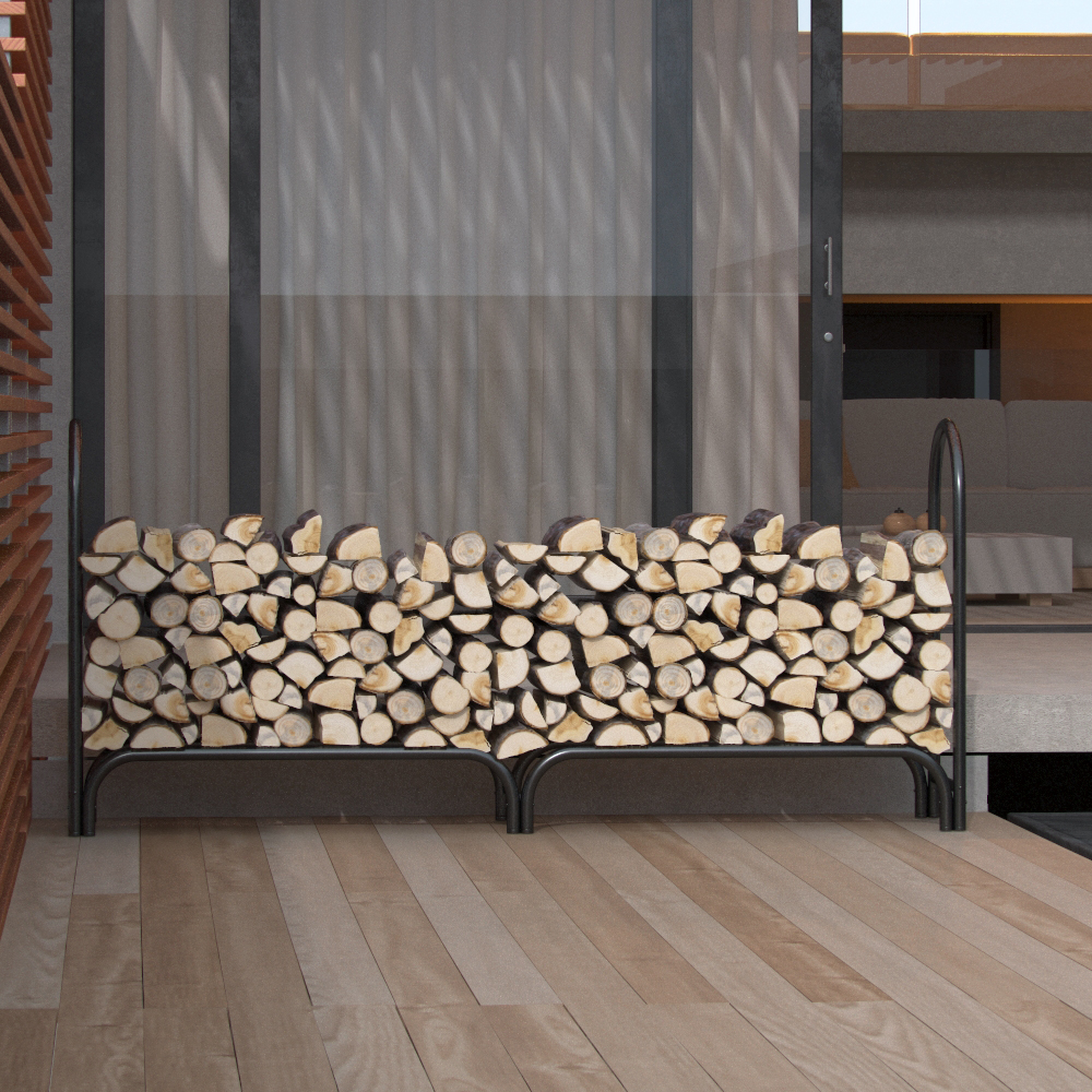 Regal Flame 8 Foot Heavy Duty Firewood Log Rack Outdoor