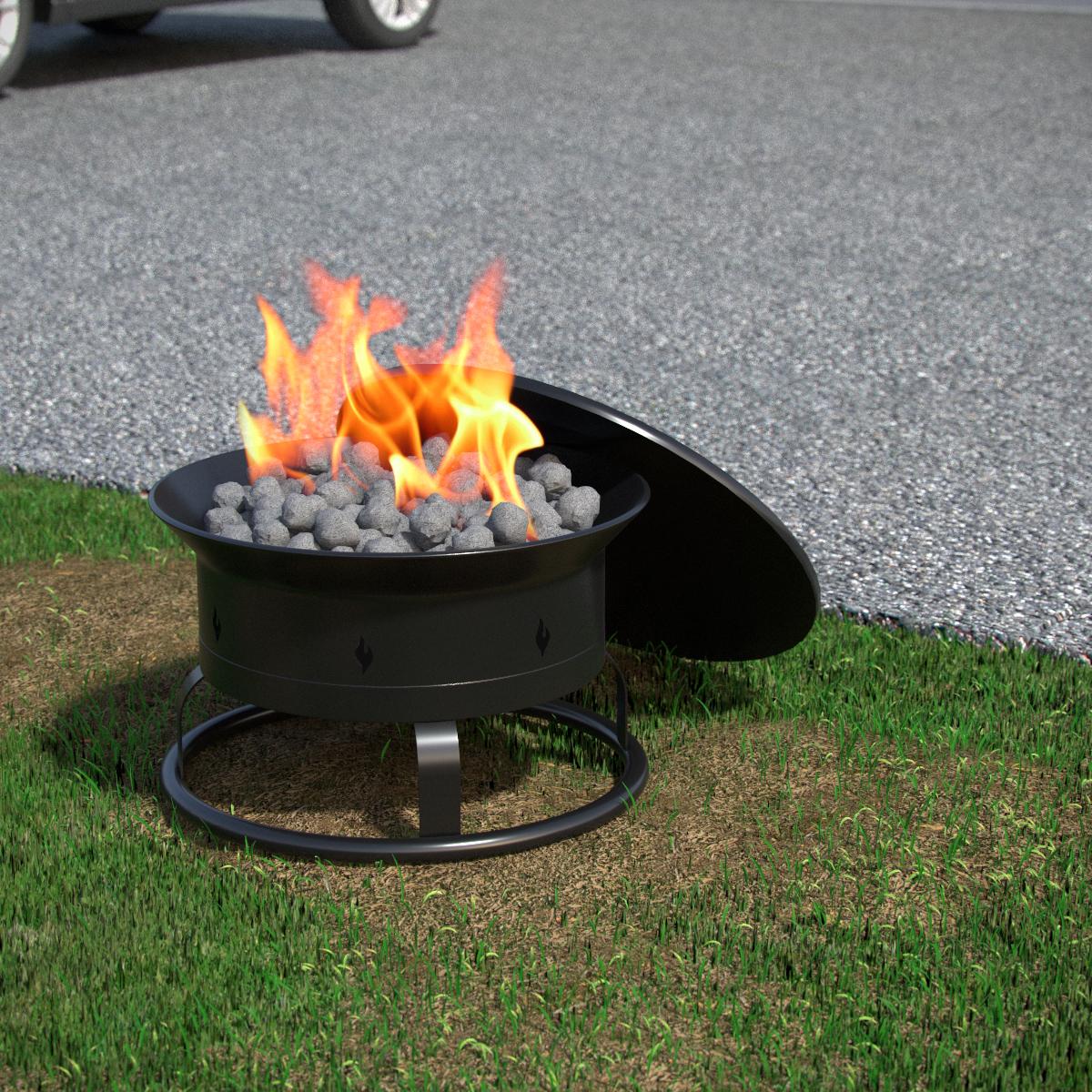 Portable Fire Pit Beach : Regal flame camp mate btu portable propane outdoor