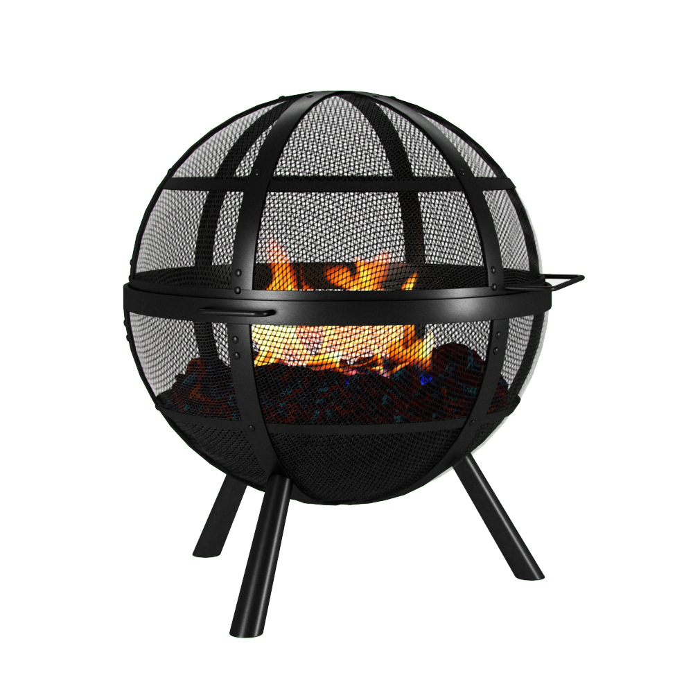 Sphere fire ball garden light fire box fire bowl outdoor for Ethanol outdoor fire pit
