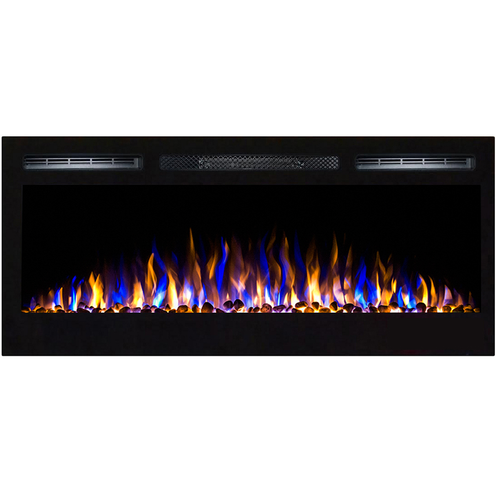 regal flame 36 inch lexington pebble built in recessed wall