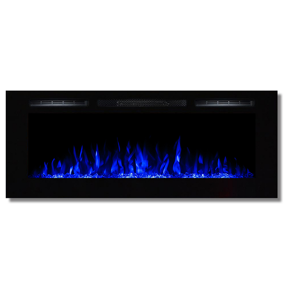 regal flame 50 inch fusion crystal stone built in wall mounted