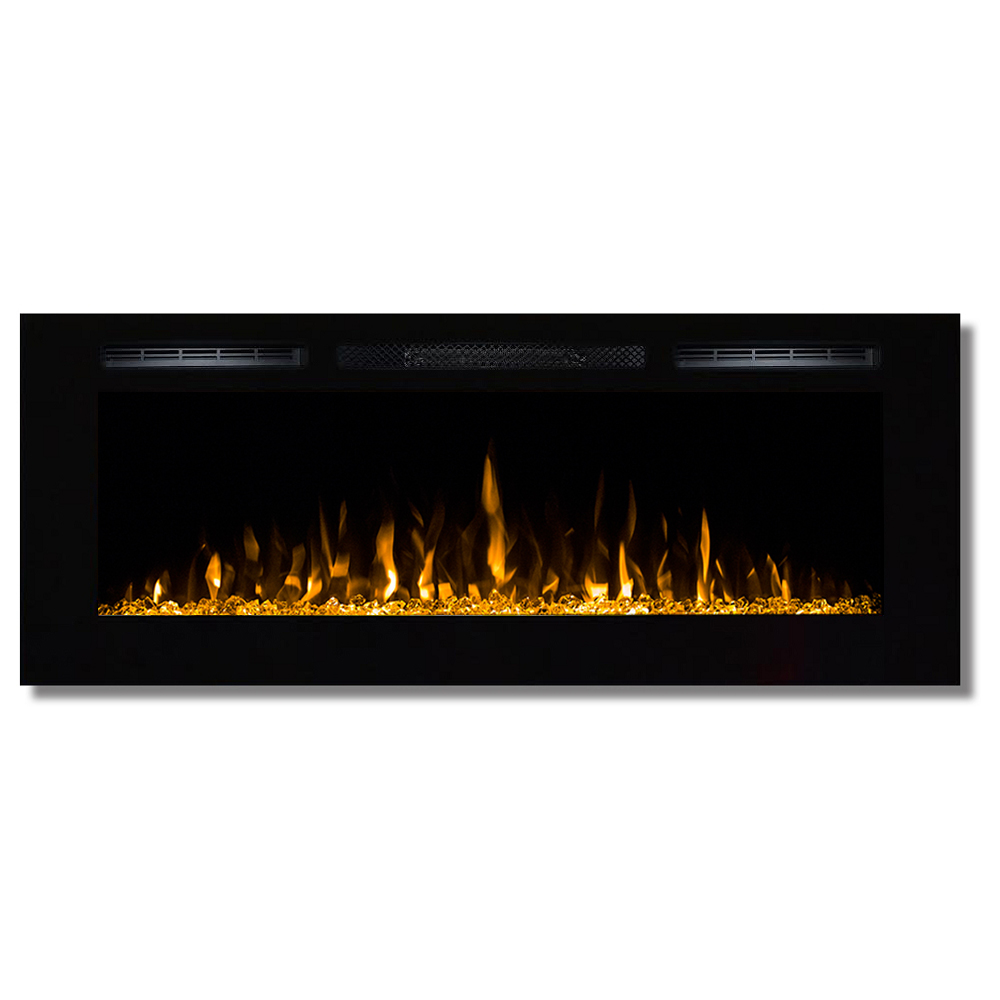 Regal Flame 50 Inch Fusion Crystal Stone Built In Wall Mounted Electric Fireplace