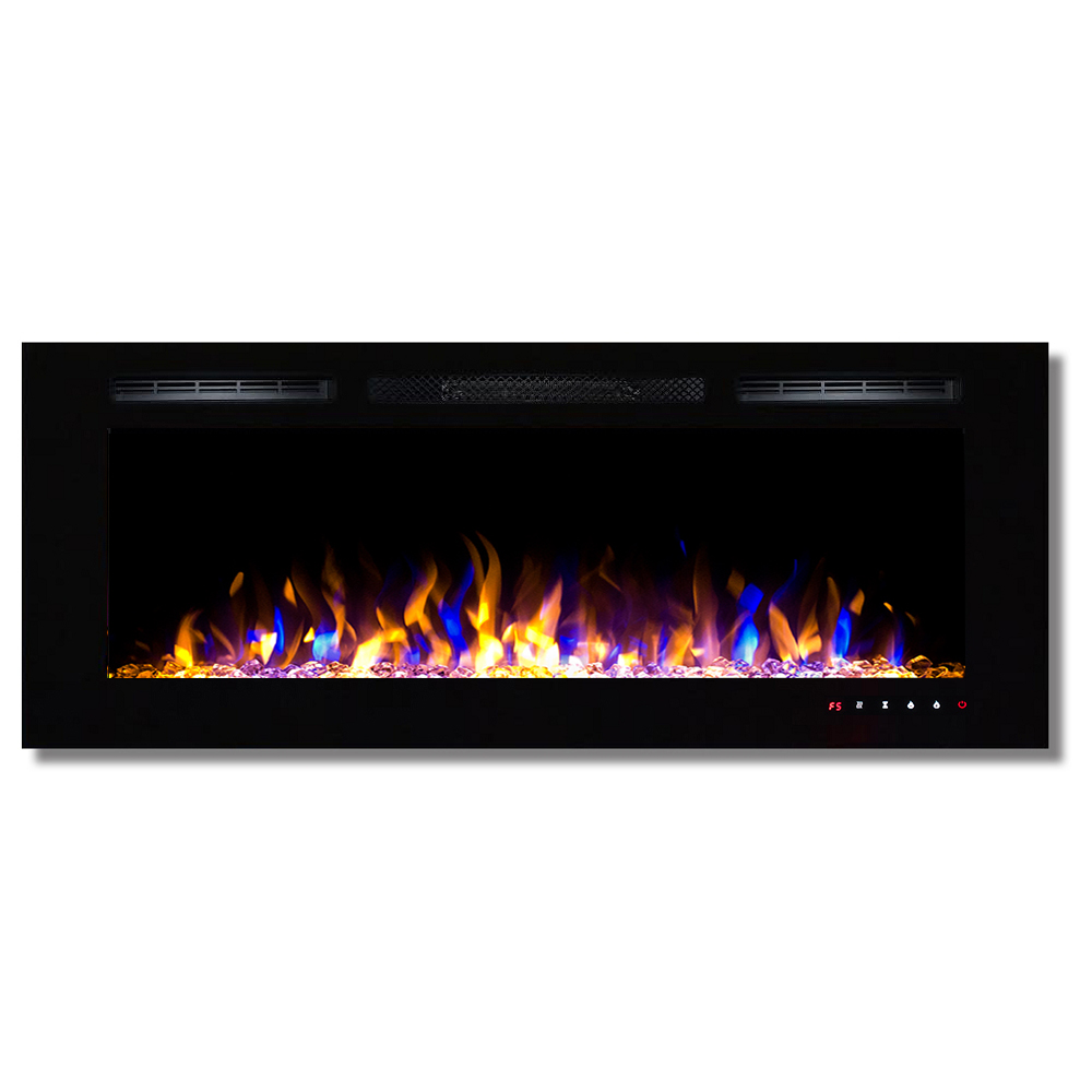 in mounted changing color inch northwest white fireplaces electric p wall fireplace