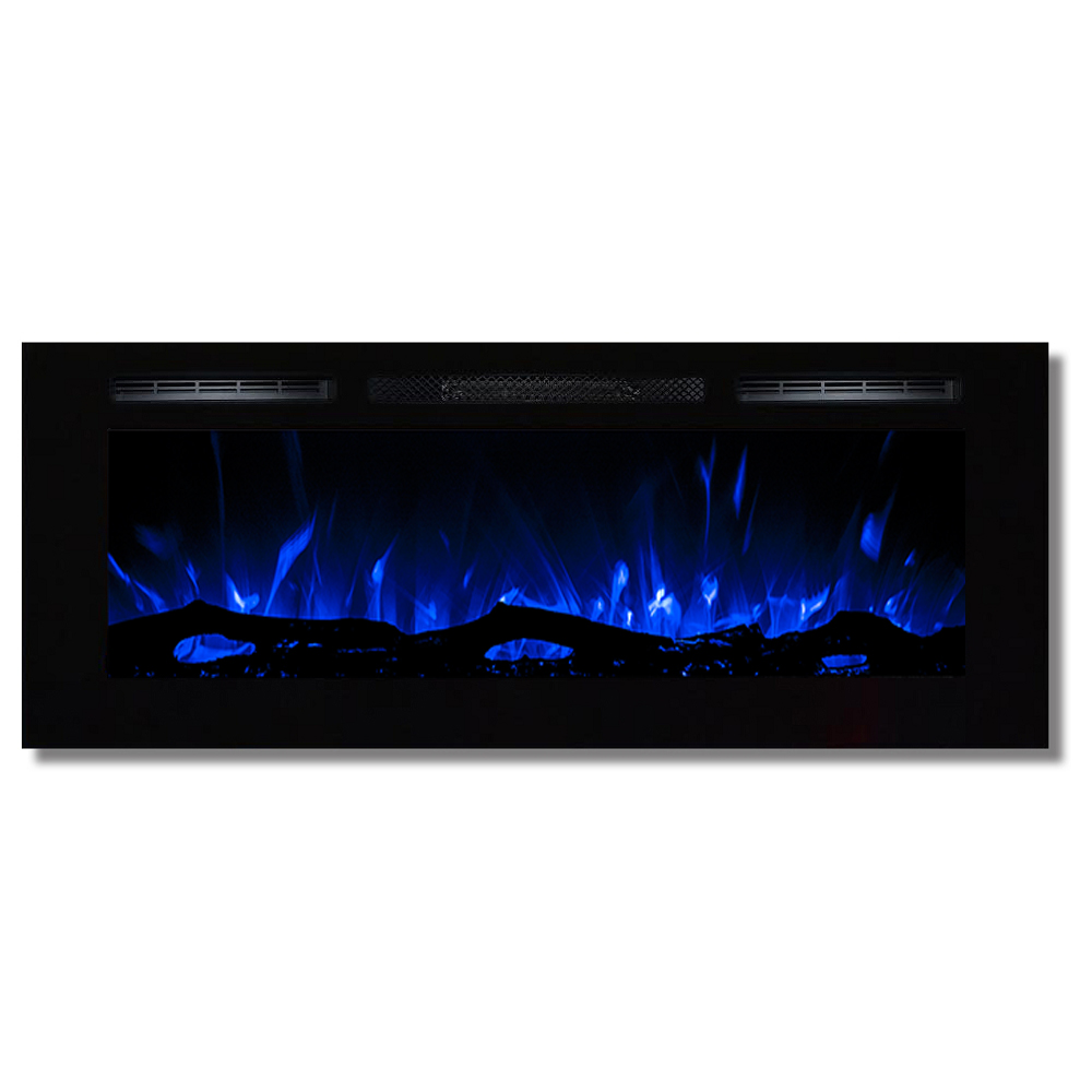 regal flame 50 u0027 u0027 fusion log wall mounted electric fireplace