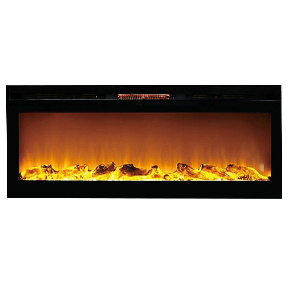 Miraculous Regal Flame Astoria 60 Inch Built In Ventless Heater Recessed Wall Mounted Electric Fireplace Log Beutiful Home Inspiration Ommitmahrainfo