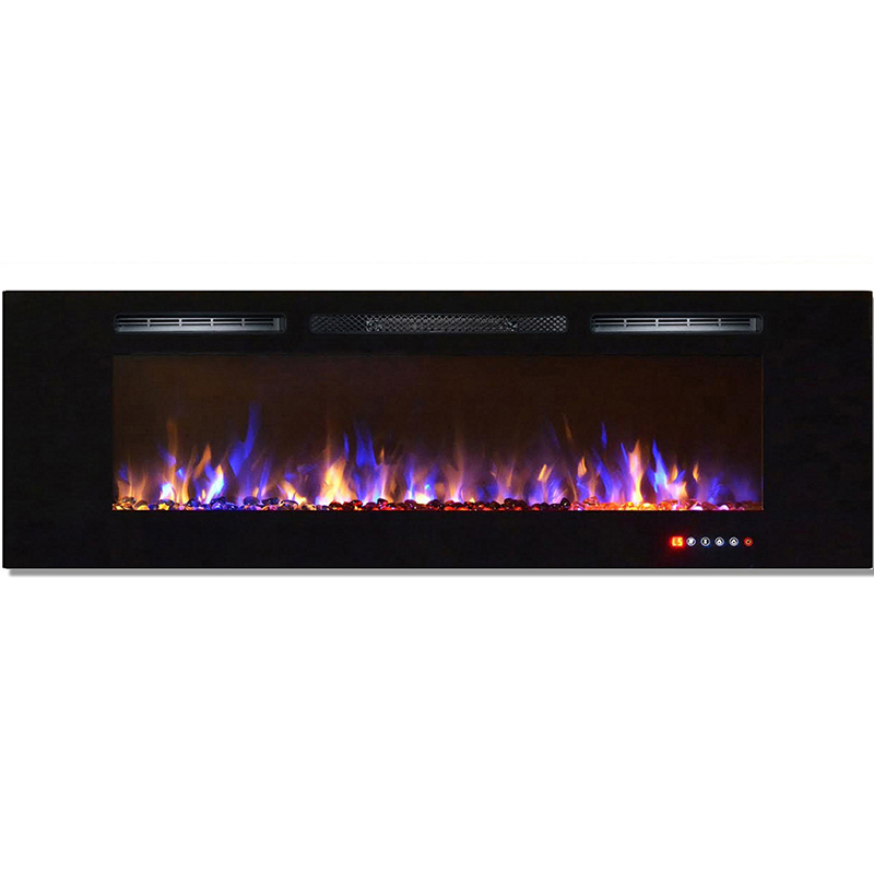 Regal Flame Gotham 72 Inch Built In Ventless Heater Recessed Wall Mounted Electric Fireplace