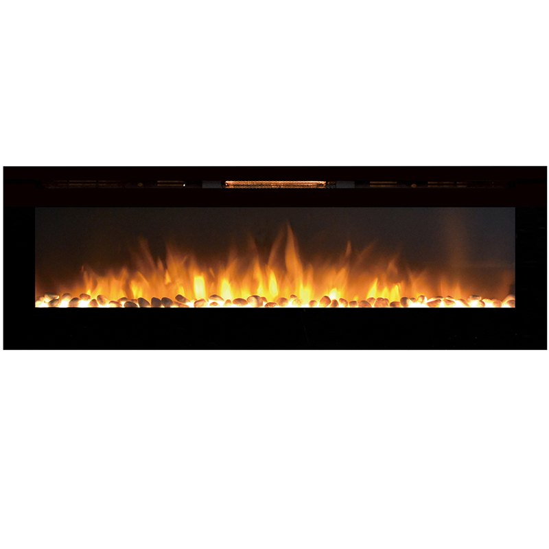 Wall Mount Electric Fireplace Or Recessed Within Designs: Regal Flame Gotham 72 Inch Built-in Ventless Heater