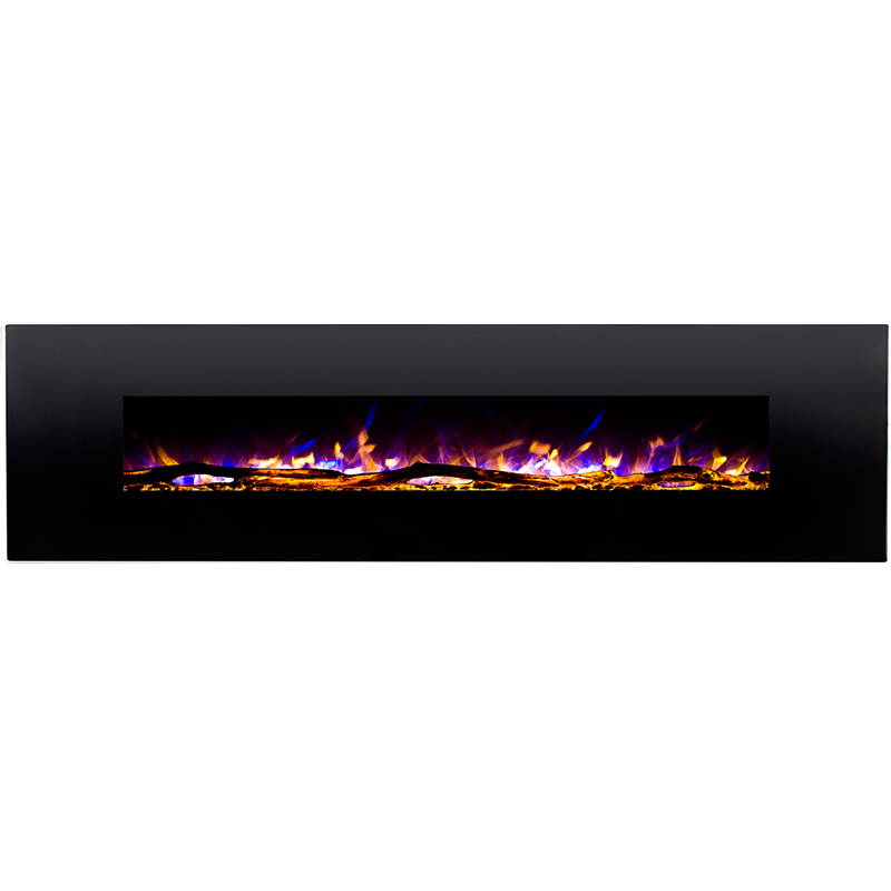 regal flame huron 95 inch black ventless heater electric wall