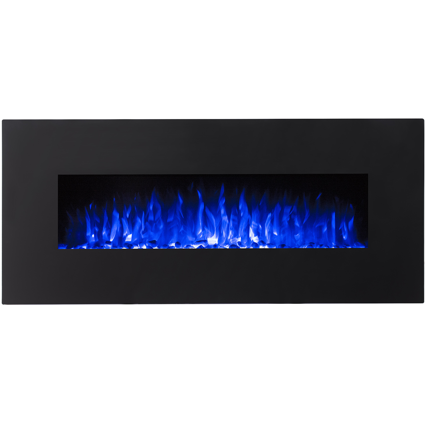 rigel 50 inch pebble electric wall mounted fireplace black