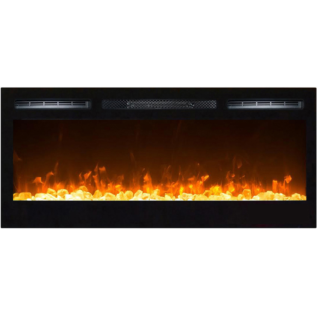 Moda Flame 36 Inch Cynergy Crystal Built In Recessed Wall