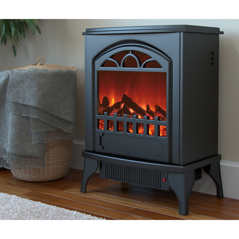 Moda Flame Mason Electric Fireplace Stove Insert With Heater