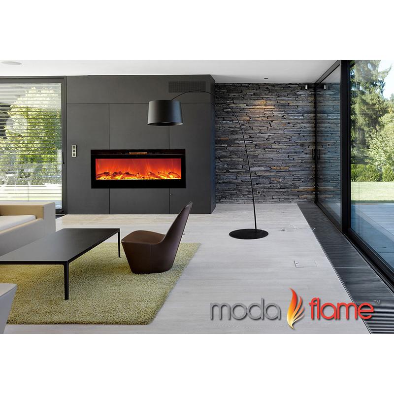 Moda Flame 50 39 39 Cynergy Log Wall Mounted Electric Fireplace