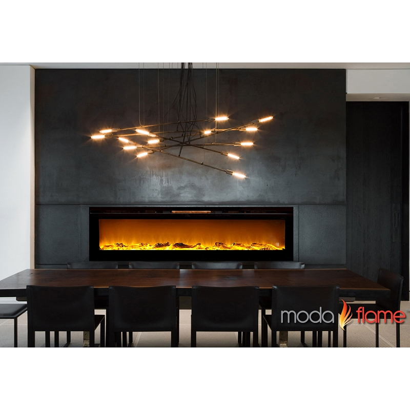 Moda Flame 60'' Cynergy Wall Mounted Electric Fireplace