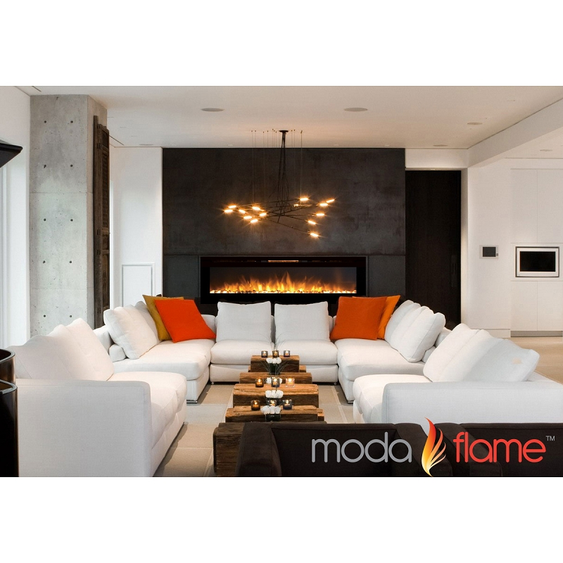 Moda Flame 72 Inch Recessed Cynergy XXL Pebble Built-In Wall ...