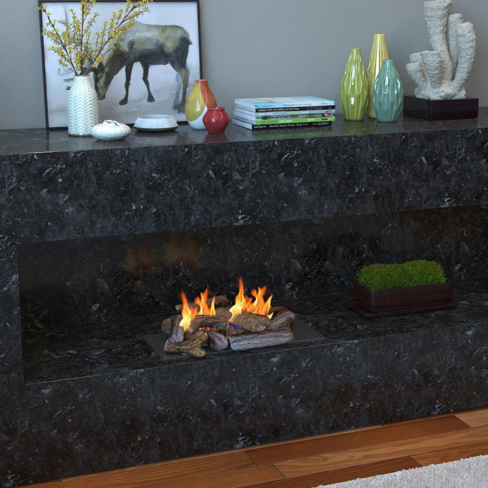 Set Of 18 Ceramic Fiber Petite Propane Gel Ethanol Or Gas Fireplace Logs