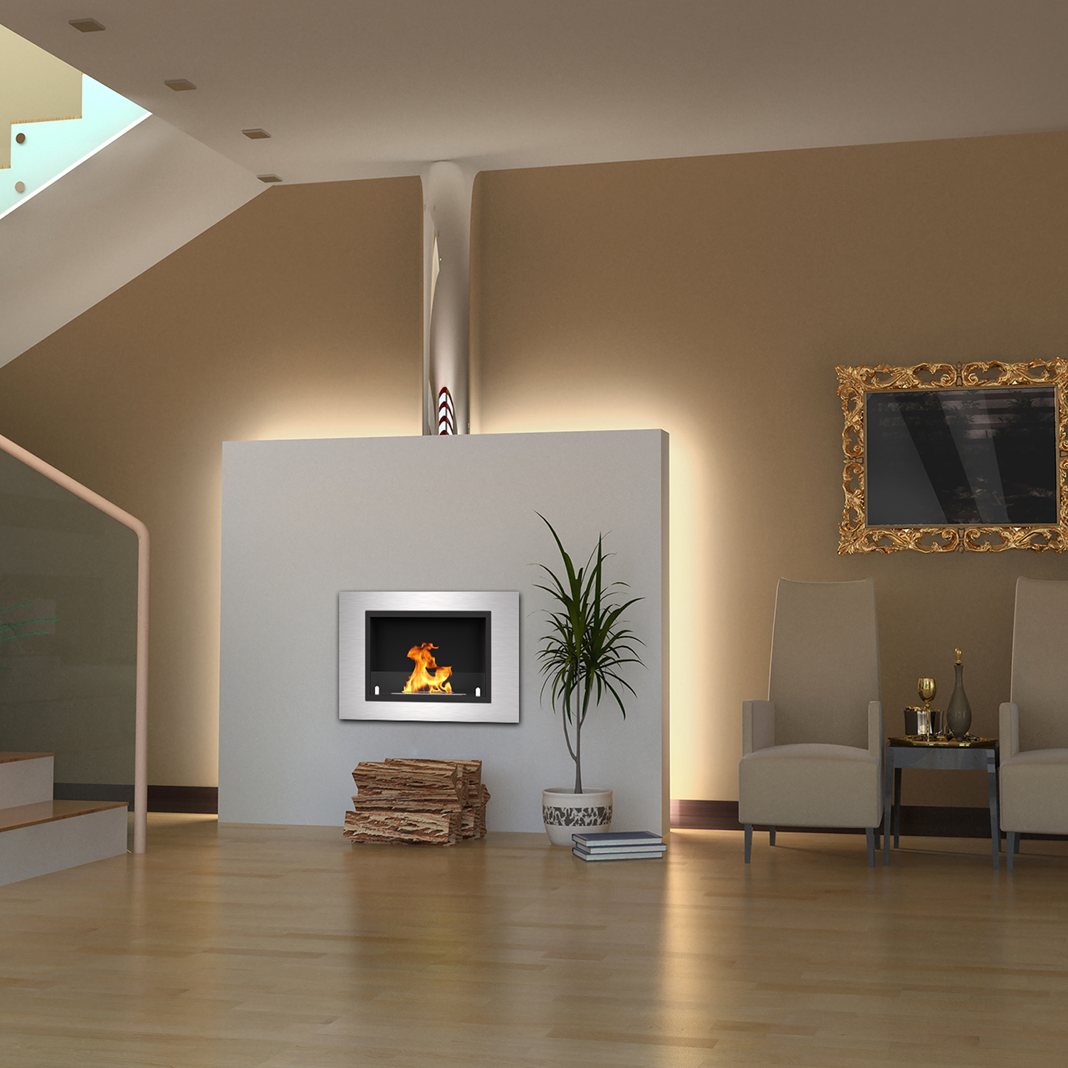built pebble flame lexington electric recessed fireplace regal compilation in luxury mount wall inch ideas
