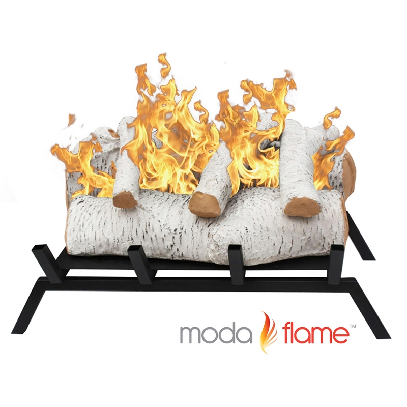 Birch Convert To Ethanol Fireplace Log Set Grate