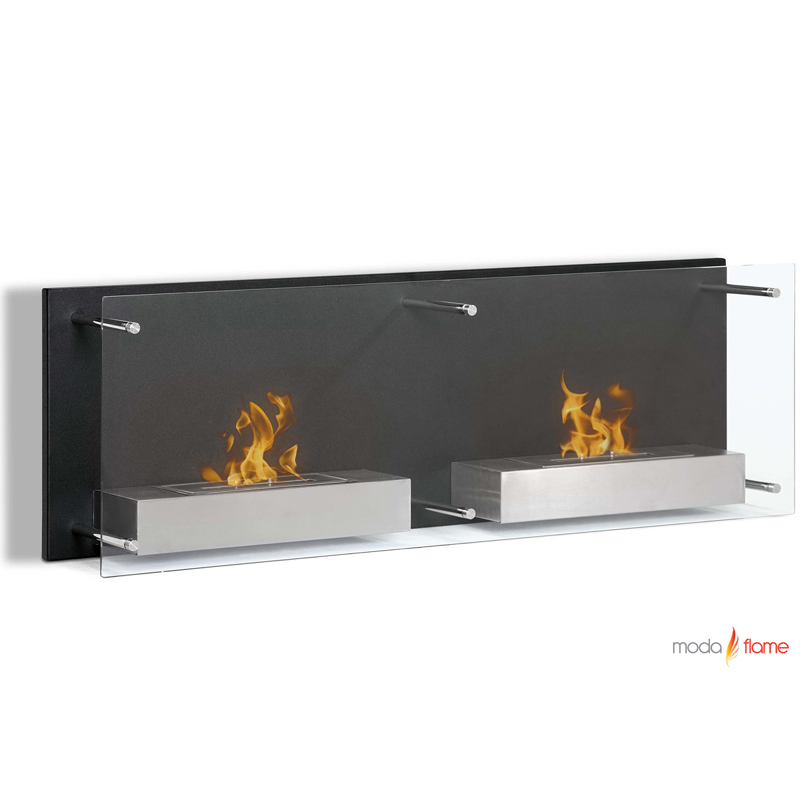 moda flame faro wall mounted ethanol fireplace