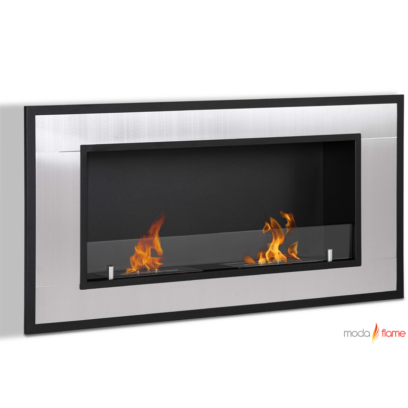 moda flame lugo wall mounted ethanol fireplace