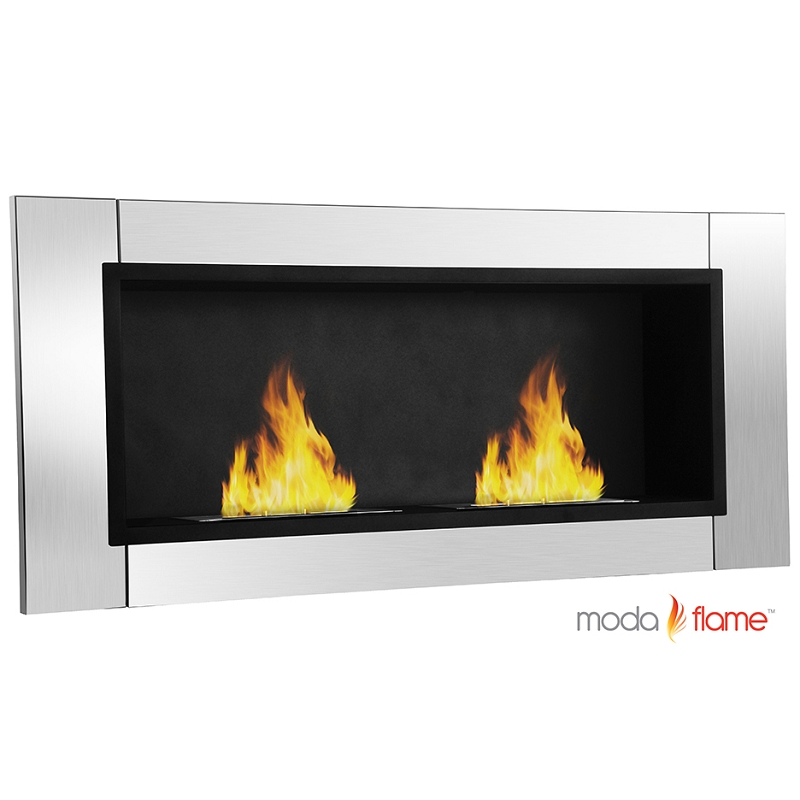 moda valencia wall mounted bio ethanol fireplace
