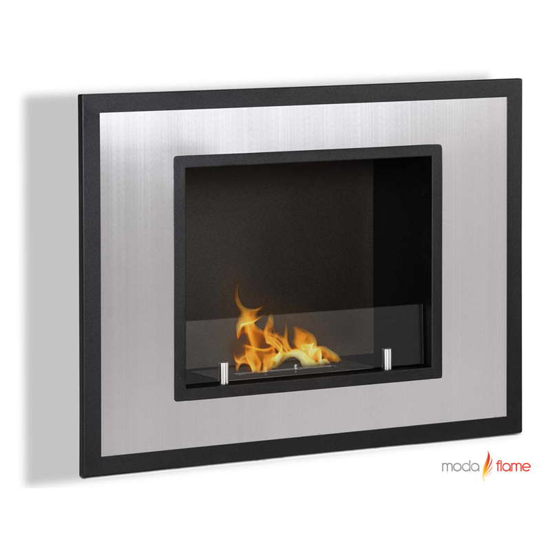 moda flame rio wall mounted ethanol fireplace