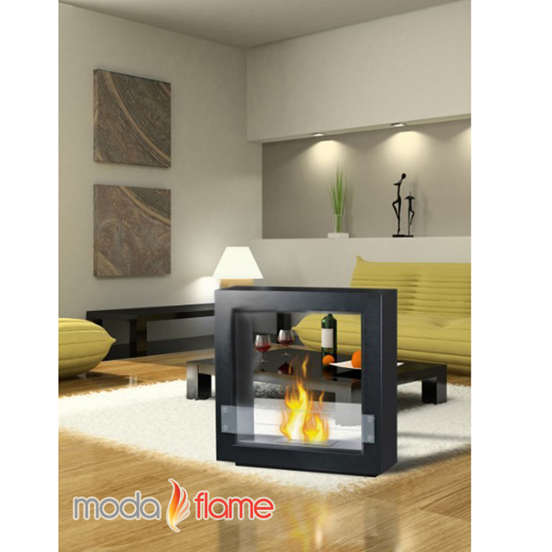 Moda Flame Porta Free Standing Ventless Ethanol Fireplace ...