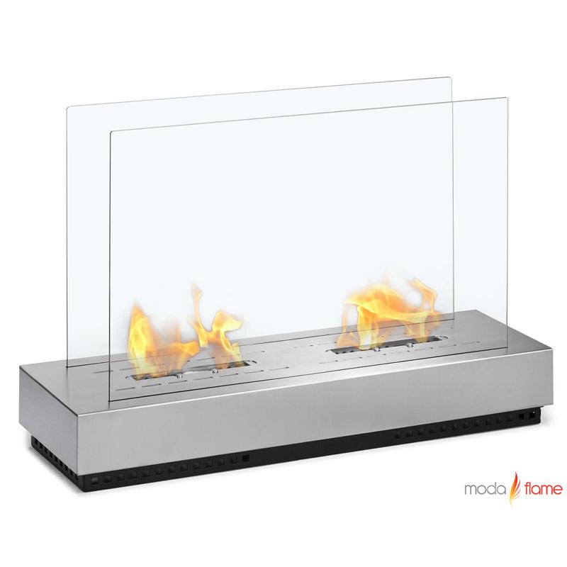 moda flame braga free standing floor indoor outdoor ethanol fireplace