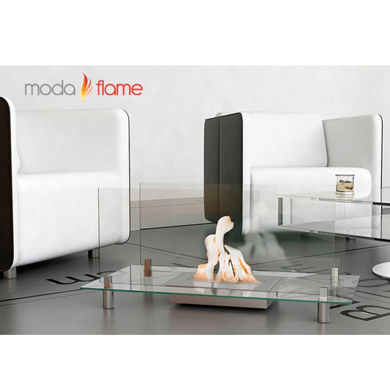 Moda Flame Baza Free Standing Floor Indoor Outdoor Ethanol