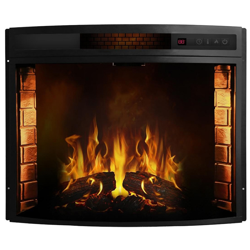 Moda Flame Elwood 26 Inch Curved Electric Fireplace Insert  Electric Fireplace Insert