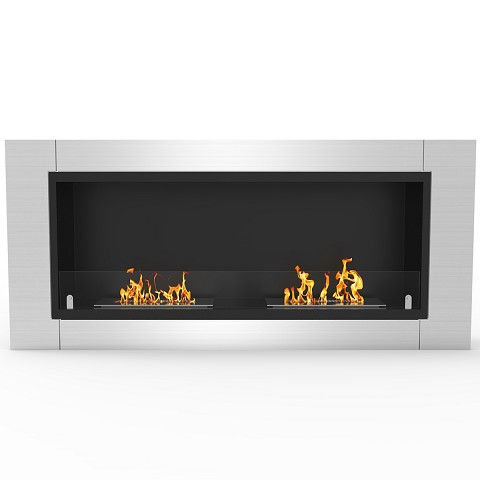 Regal Flame Fargo 43 Inch Ventless Built In Recessed Bio Ethanol Wall Mounted Fireplace