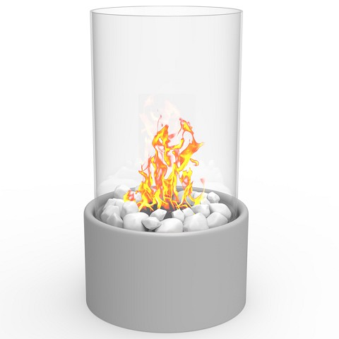 Regal Flame Eden Tabletop Firepit Ethanol Fireplace Gray