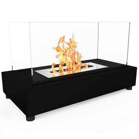 Regal Flame Avon Table Top Indoor Outdoor Ethanol Fireplace in Black