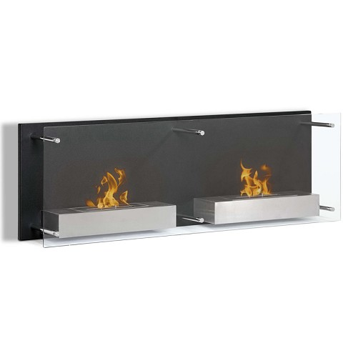 Regal Flame Mora 47 Inch Ventless Wall Mounted Bio Ethanol Fireplace