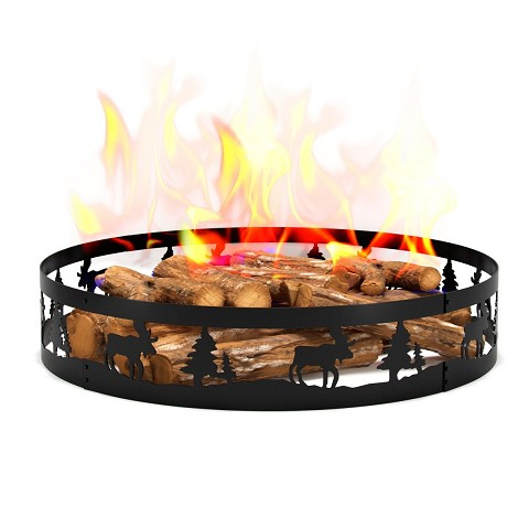 Regal Flame Boston Backyard Garden Home Deer and Trees Light Wood Fire Pit Fire Ring